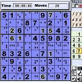 Numberz (SuDoku) for Palm OS